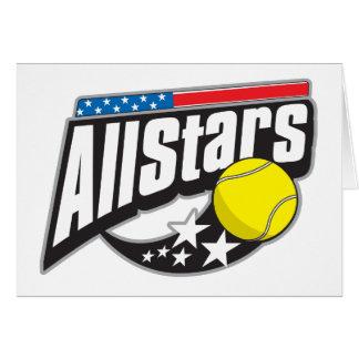 All Stars Tennis Card