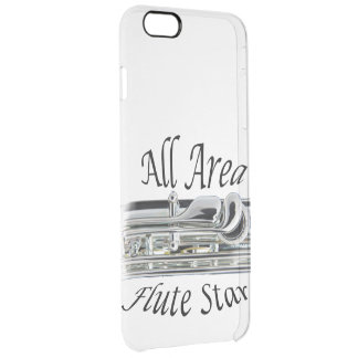 All State Area Flute Player Iphone, Ipad, Clear iPhone 6 Plus Case