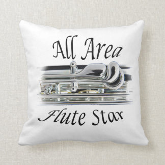 All State Area Flute Player Pillow ANY COLOR