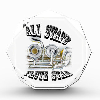 All State Flute Player Award Plaque ANY COLOR