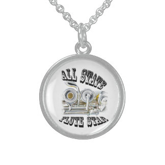 All State Flute Player Necklace Jewelry ANY COLOR