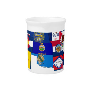All States Flags United Drink Pitchers