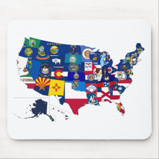 All States Flags United Mouse Pad