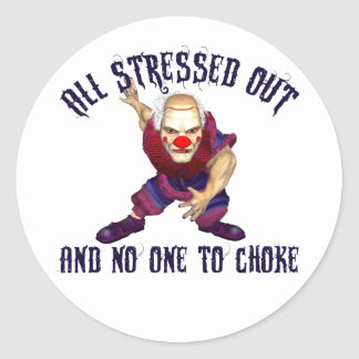All Stressed Out Classic Round Sticker