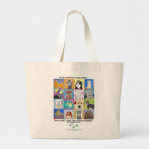 All tails should have a happy ending.... large tote bag