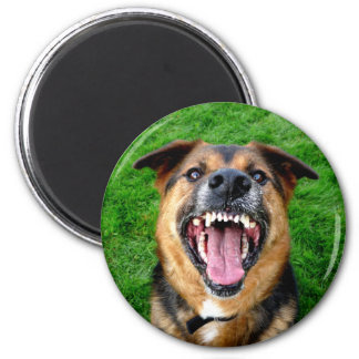 All Teeth - Mean Dog 2 Inch Round Magnet
