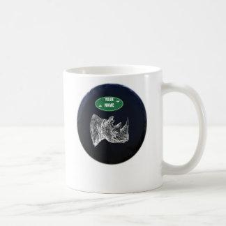 All Terrain Rhino Mug. Personalized Classic White Coffee Mug
