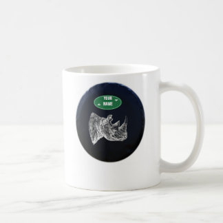 All Terrain Rhino Mug. Personalized Coffee Mug