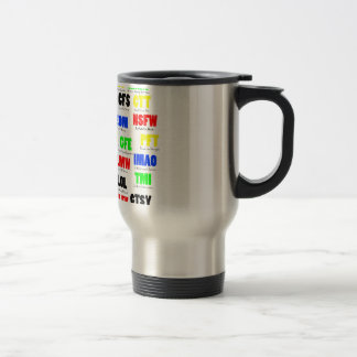 All Text on one Page in Color Travel Mug