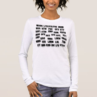 All Text on one Page V2 Long Sleeve T-Shirt