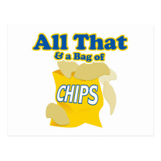 All That and a Bag of Chips Postcard