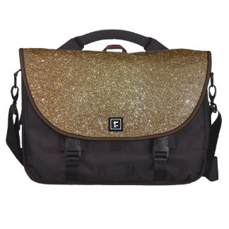 all that glitters is gold laptop commuter bag