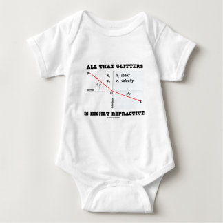 All That Glitters Is Highly Refractive (Physics) Baby Bodysuit