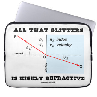 All That Glitters Is Highly Refractive (Physics) Computer Sleeve