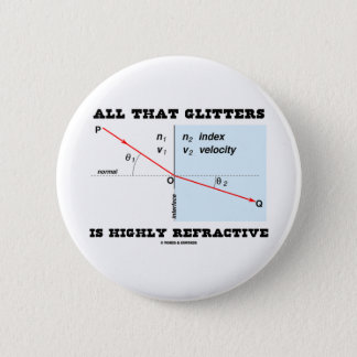 All That Glitters Is Highly Refractive (Physics) Pinback Button
