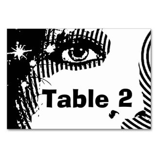 All That Glitters Table Card