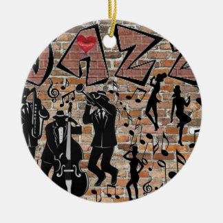 ALL THAT JAZZ CERAMIC ORNAMENT