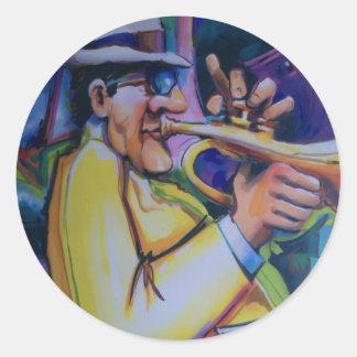all that jazz classic round sticker
