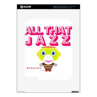All That Jazz-Cute Monkey-Morocko iPad 3 Skins