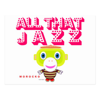All That Jazz-Cute Monkey-Morocko Postcard