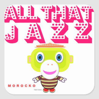 All That Jazz-Cute Monkey-Morocko Square Sticker