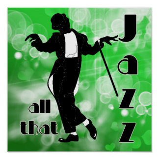 All That Jazz In Green Poster