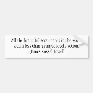 All the beautiful sentiments in the world car bumper sticker