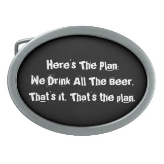 All The Beer Funny Oval Belt Buckle