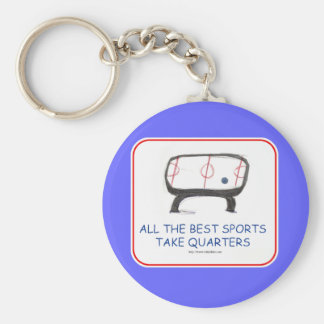 All the best sports take quarters basic round button keychain