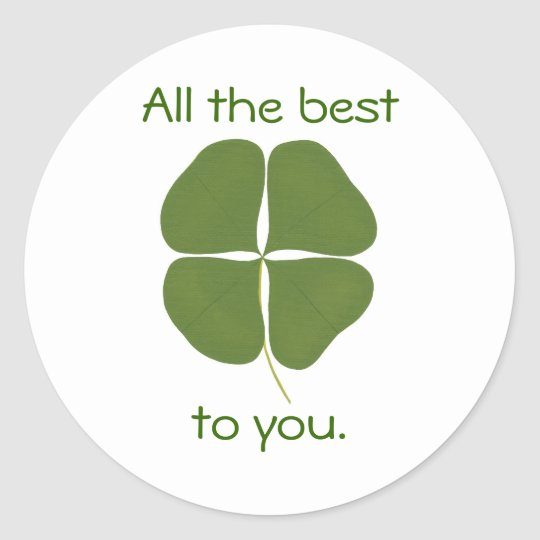 All the best to you, Shamrock affirmation stickers