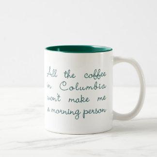 All the Coffee in Columbia (Green) Two-Tone Coffee Mug