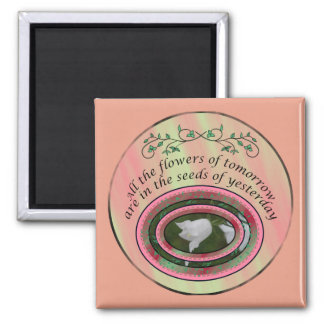 All the flowers... 2 inch square magnet