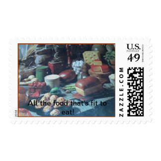 All the food that's fit to eat! postage
