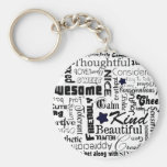 All the Good Things About You Basic Round Button Keychain