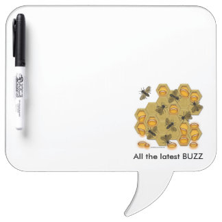 All The Latest Buzz Honeycomb White Message Board