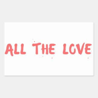 """All the Love"" - Harry Styles Rectangular Sticker"