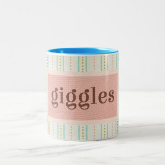 All the Pretty Things Giggles Two-Tone Coffee Mug