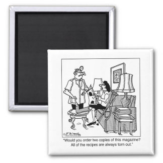 All The Recipes Are Torn From the Magazines 2 Inch Square Magnet