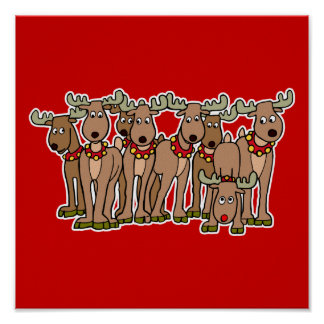 all the reindeer poster