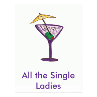 All the Single Ladies Bachelorete Party Postcard