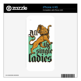 all the single ladies, vintage lion iPhone 4 decal