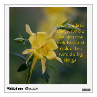 All the small  things yellow floral wall decal