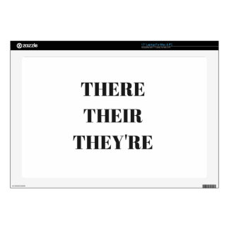"""All The There Grammar Humor Text Illustration 17"""" Laptop Decal"""