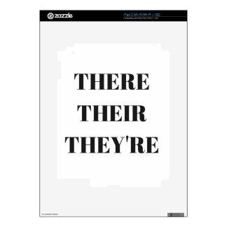 All The There Grammar Humor Text Illustration iPad 2 Skin
