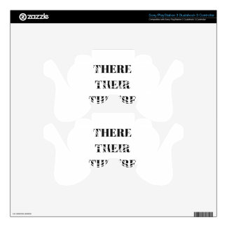 All The There Grammar Humor Text Illustration PS3 Controller Skins