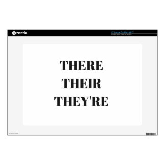 """All The There Grammar Humor Text Illustration Skin For 15"""" Laptop"""