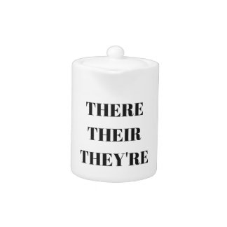 All The There Grammar Humor Text Illustration Teapot