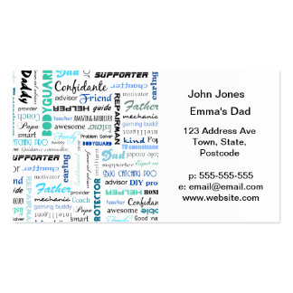 All the things a dad is to me typography business card