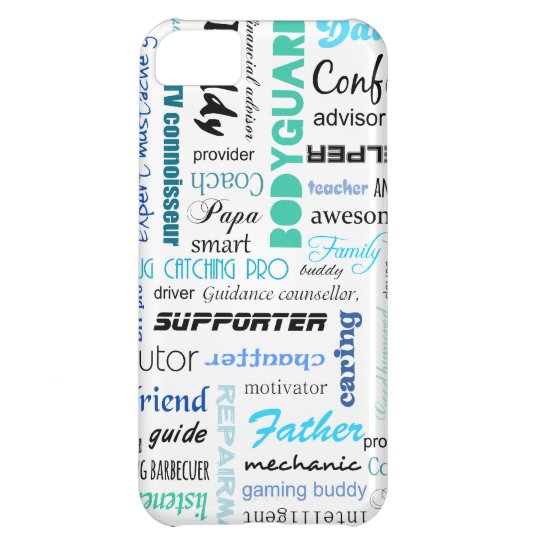 All the things a dad is to me typography cover for iPhone 5C