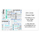 All the things a dad is to me typography Double-Sided standard business cards (Pack of 100)